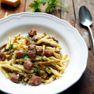 Pasta salsiccia e fagiolini