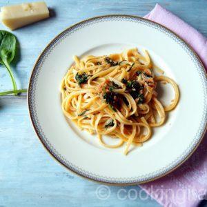 Pasta Nduja e spinaci