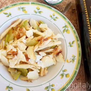 zucchini e pancetta - Zucchini und Speck