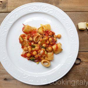 ceci e zucchini - Kichererbsen und Zucchini