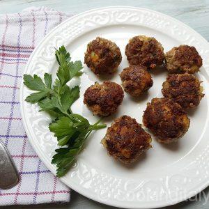 Fleischbällchen aus Rindfleisch und Kartoffeln