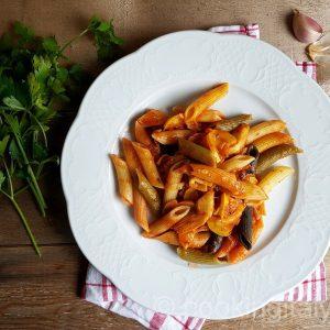 Pasta Tricolore mit Sepia und Zucchini