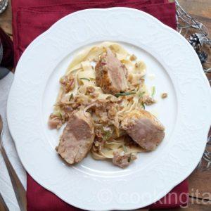 Involtini di Pollo - Gefüllte Hähnchen-Rouladen