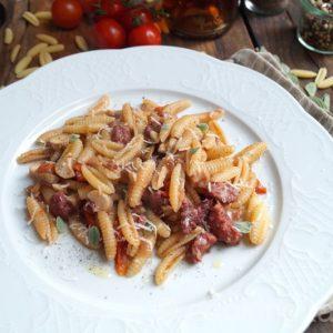 Malloreddus mit Salsiccia und Pilze